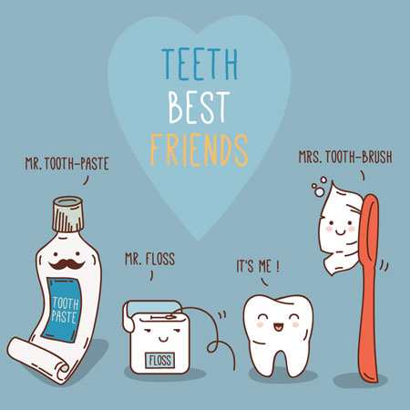 Pymble dentist-tooth-pediatric-dentist-tooth-friends-illustration